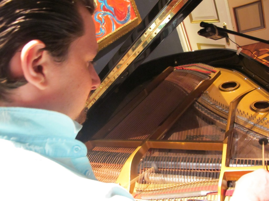playing inside the piano